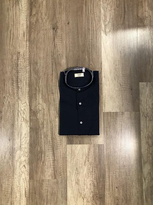 Camicia Corena Lino Blu Scuro Slim Fit