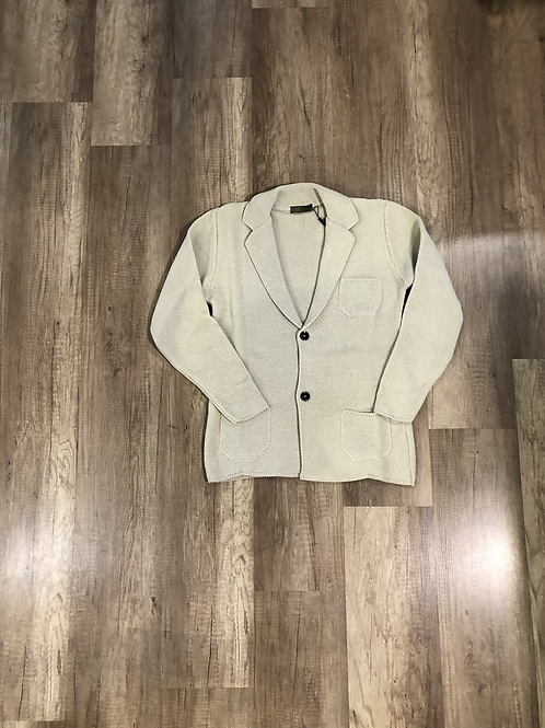 Giacca Maglia Outfit Beige