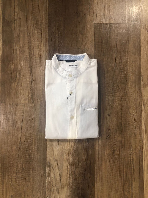 Camicia Coreana Selected Bianca Slim