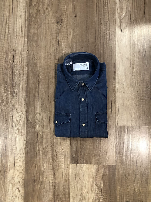 Camicia Selected Blue Denim
