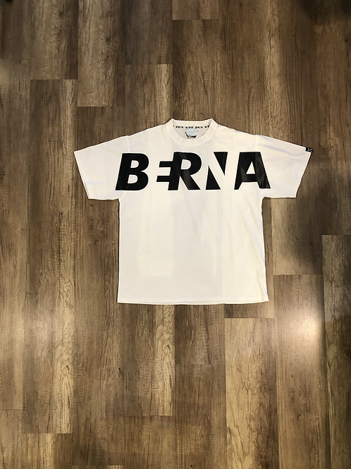 T-shirt Berna Over Bianca Logo