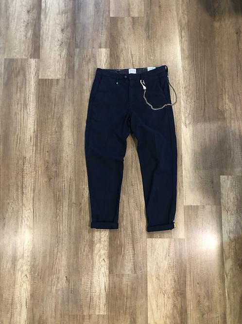 Pantalone Chino Berna Blu Catena Slim Fit