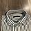 Thumbnail: Camicia Fantasia Rigata Bianco Verde Outfit Misto Lino