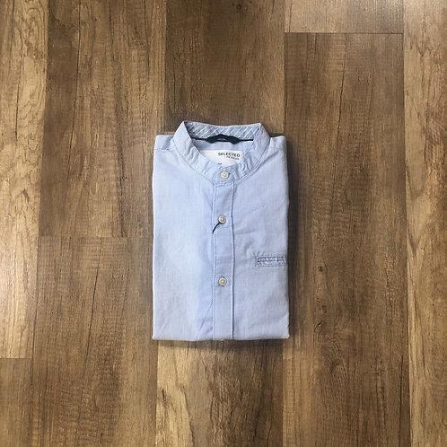 Camicia Coreana Selected Azzurra Slim