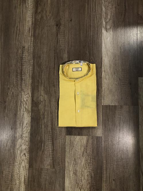 Camicia Coreana Lino Gilla Slim Fit