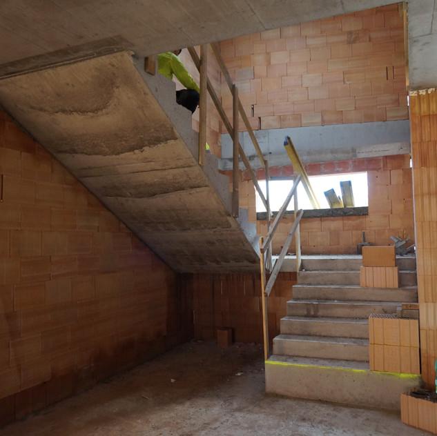 Betonové schodiště Veverská Bítýška
