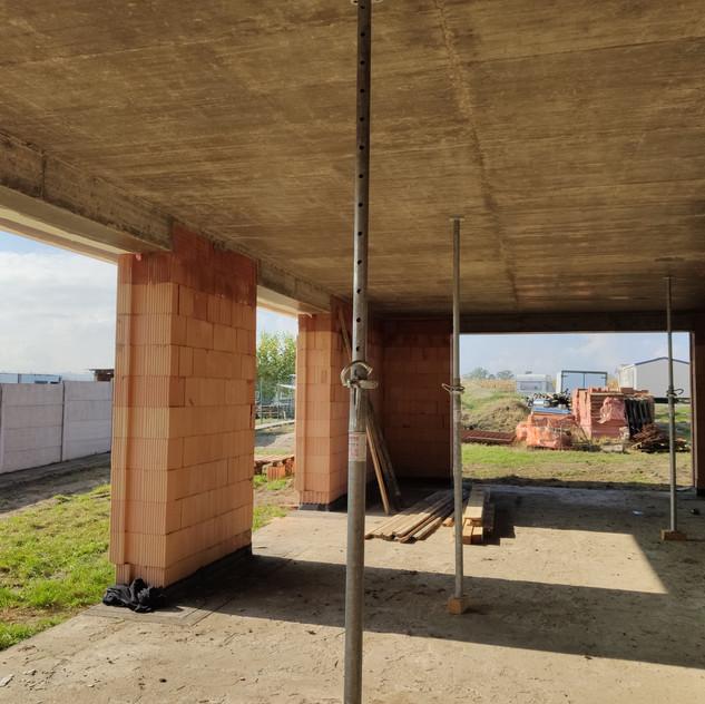 Betonový strop, Jičice u Miroslavi