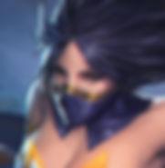 Venus Silhouette is an elegant, graceful ninja with dark hair, brown eyes, and a ton of beauty, from Heroes of Newerth.