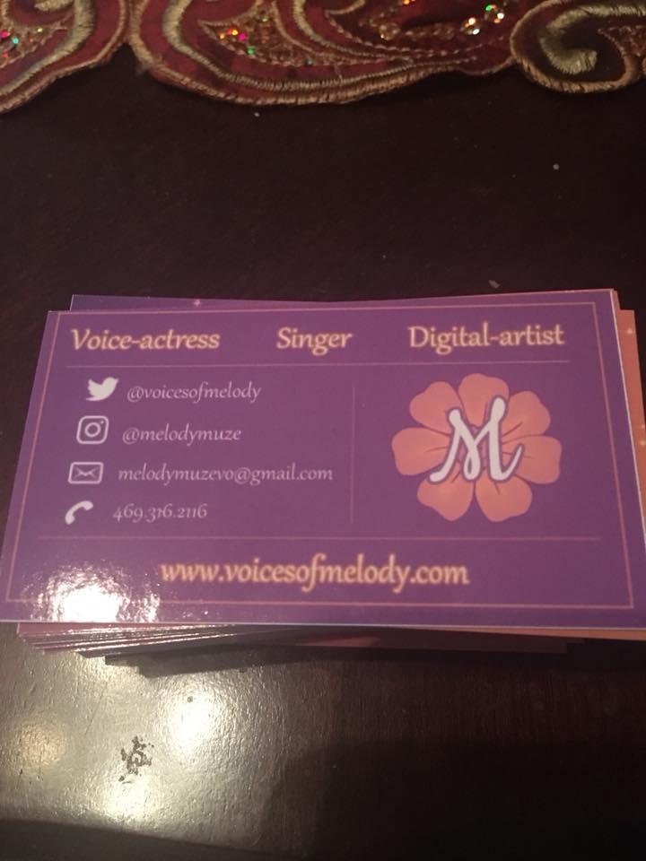 Melody Muze Business Card - Back