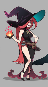 Mirael is a sexy, powerful witch with long red hair!