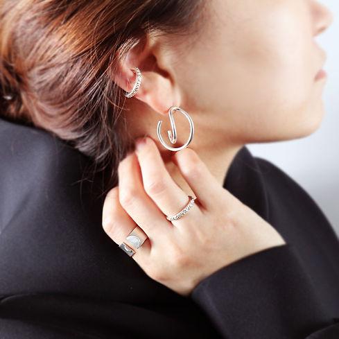 Vine Earrings #2 + Grain Ear Cuff wearing 3.jpg
