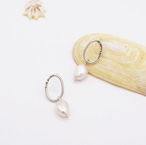 O Pearl Drop Earrings