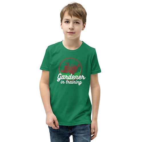 Gardener in Training Youth Short Sleeve T-Shirt