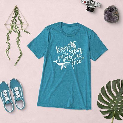 Keep the Sea Plastic Free Short sleeve t-shirt