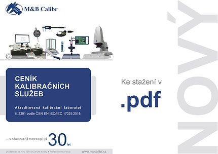 nový ceník kalibracnich sluzeb akreditovane kalibracni laboratori MB Calibr