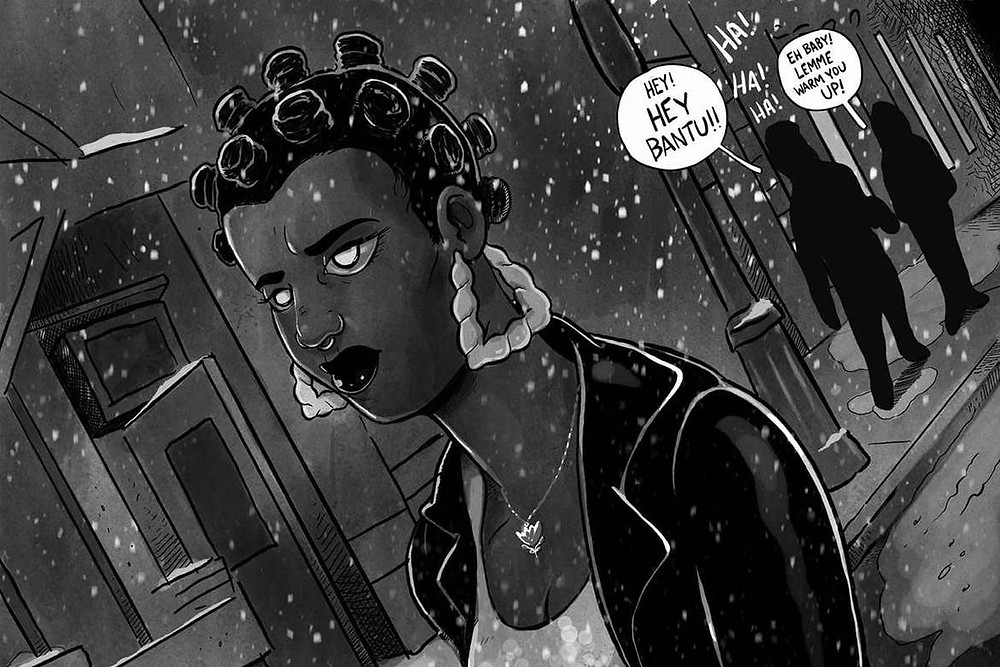A example of Diary of a mad black werewolf by female comic book illustrator Micheline Hess