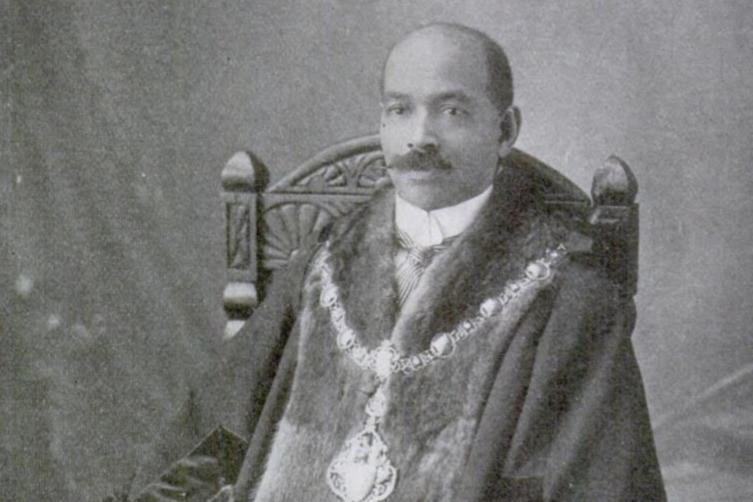 John Archer First Black British Heritage Historical Figure Portrait Painting Mayor Battersea Labour Party