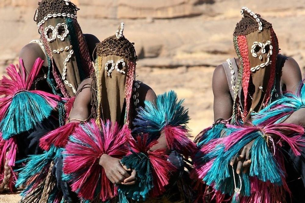 Fêtes des Masques Festival Mali Dogon Masks Culture African Costume Tribe