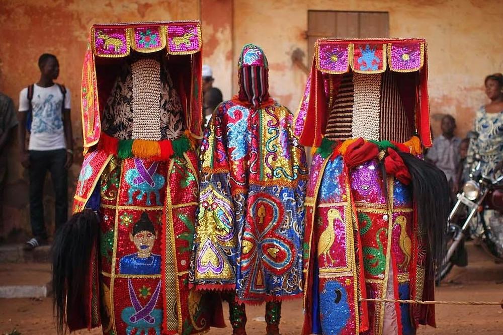 Yoruba Masquerade Figure Odun Egungun Nigeria Festival Costume Tribe African