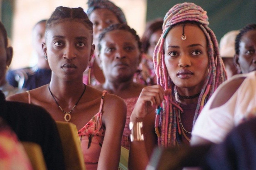 Black female lead Ziki (Sheila Munyiva) and Kena (Samantha Mugatsia) from indie coming of age film Rafiki