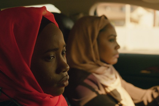 Black female leads Summer (Zoe Renee) and Jade (Simone Missick) from indie coming of age film Pariah