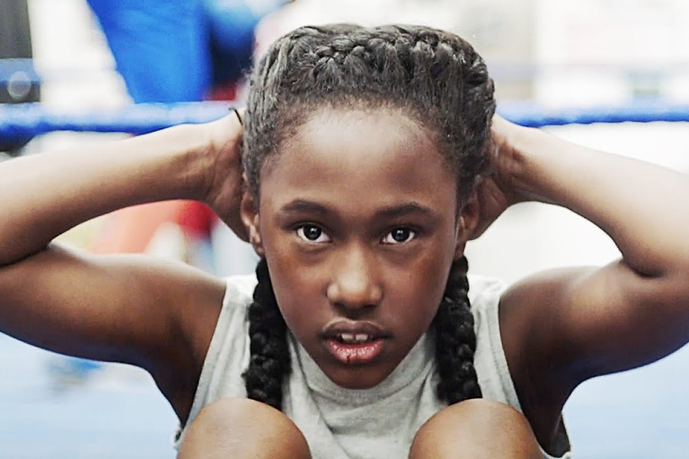 Black female lead Toni (Royalty Hightower) from indie coming of age film The Fits