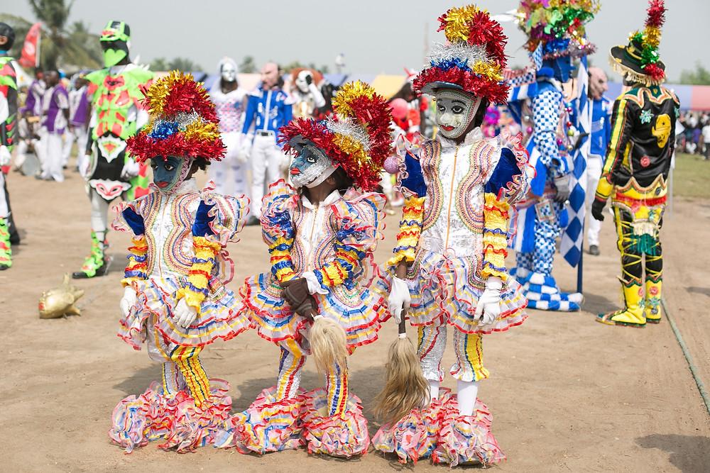Kakamotobi In Winneba Fancy Dress Festival Ghana Masquerade African Costume Celebration