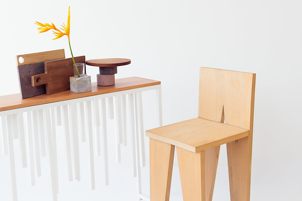 African based design studio Studio Badge's chair and chopping boards