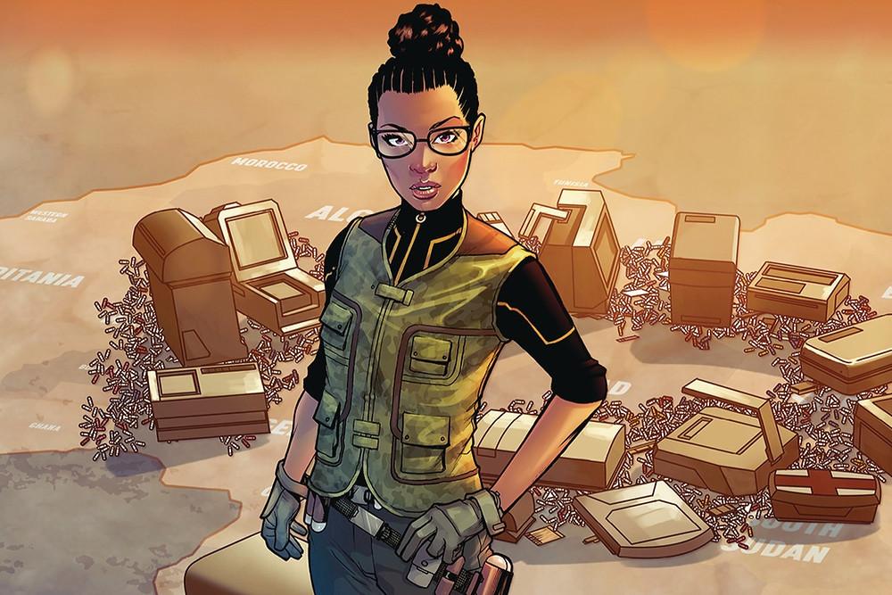 Main character in Omni comic by black female comic book artist Alitha Martinez