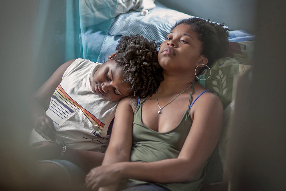 Black female lead Angel (Dominique Fishback) from indie coming of age film Night Comes On