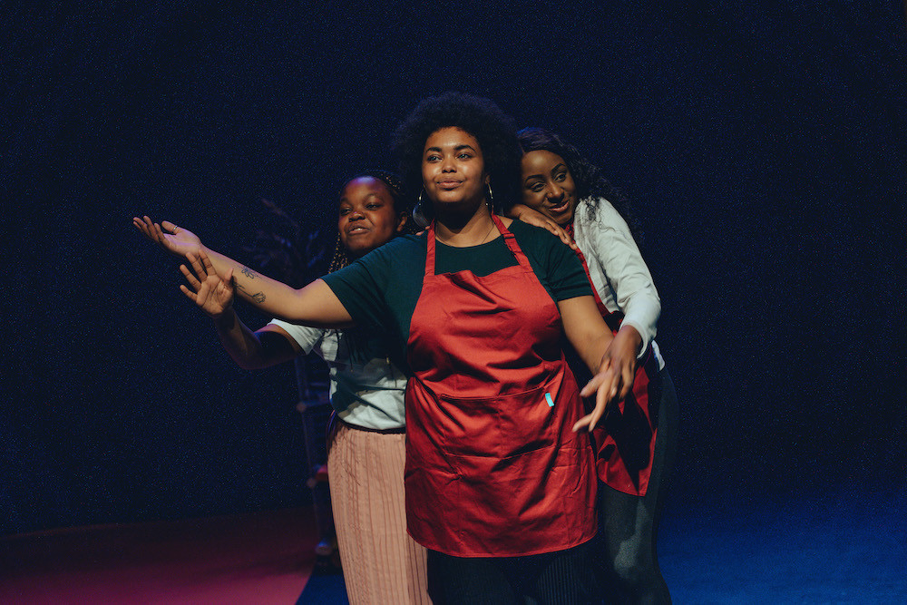 3 black actresses perform on stage for Beyond Face