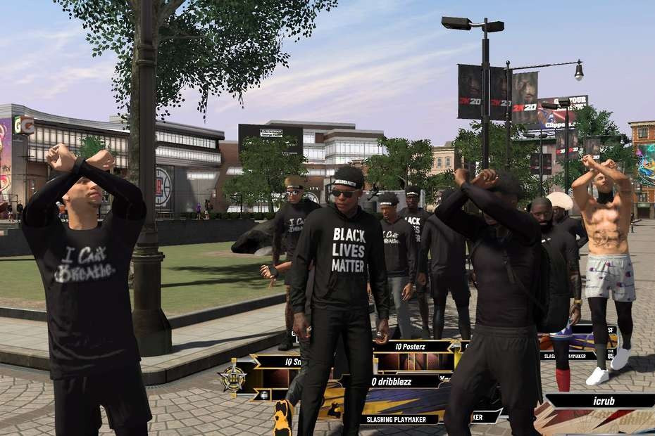 NBA 2k Adds BLM Clothing Pro-Black Gaming Moments