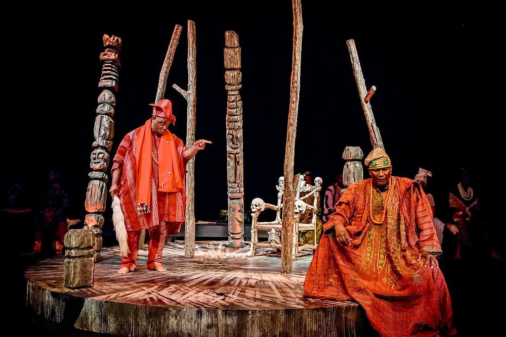 Black African actors perform for Utopia Theatre Company