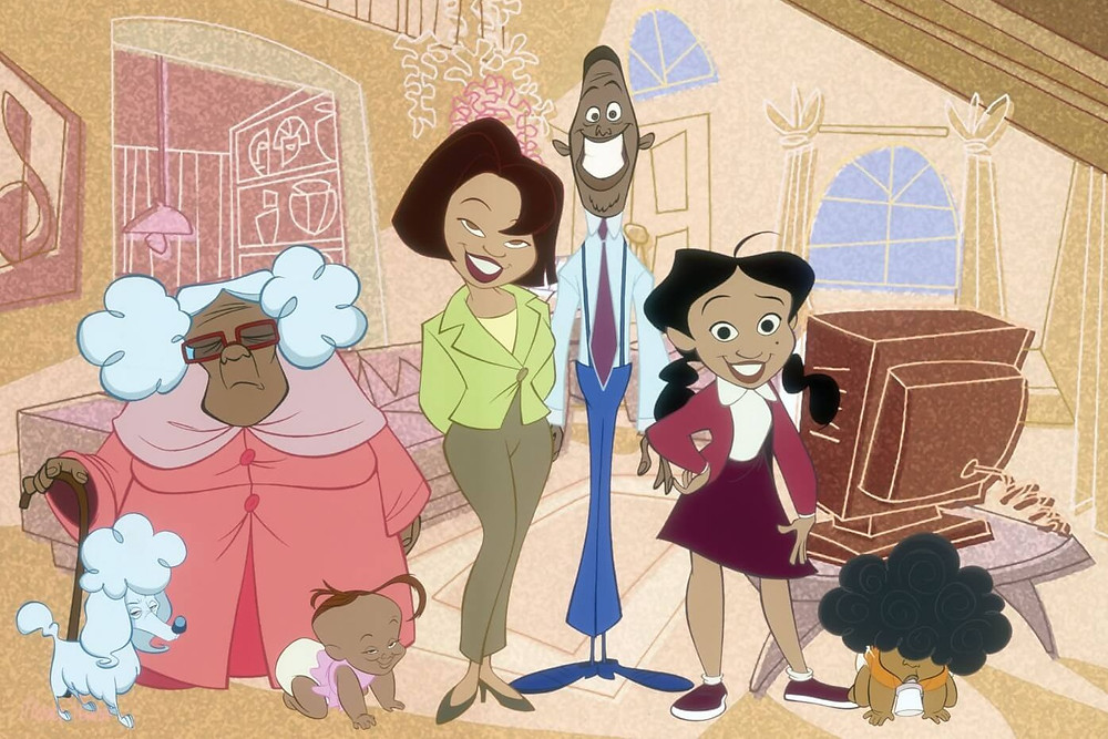 Black Main Characters From Animated TV Show The Proud Family