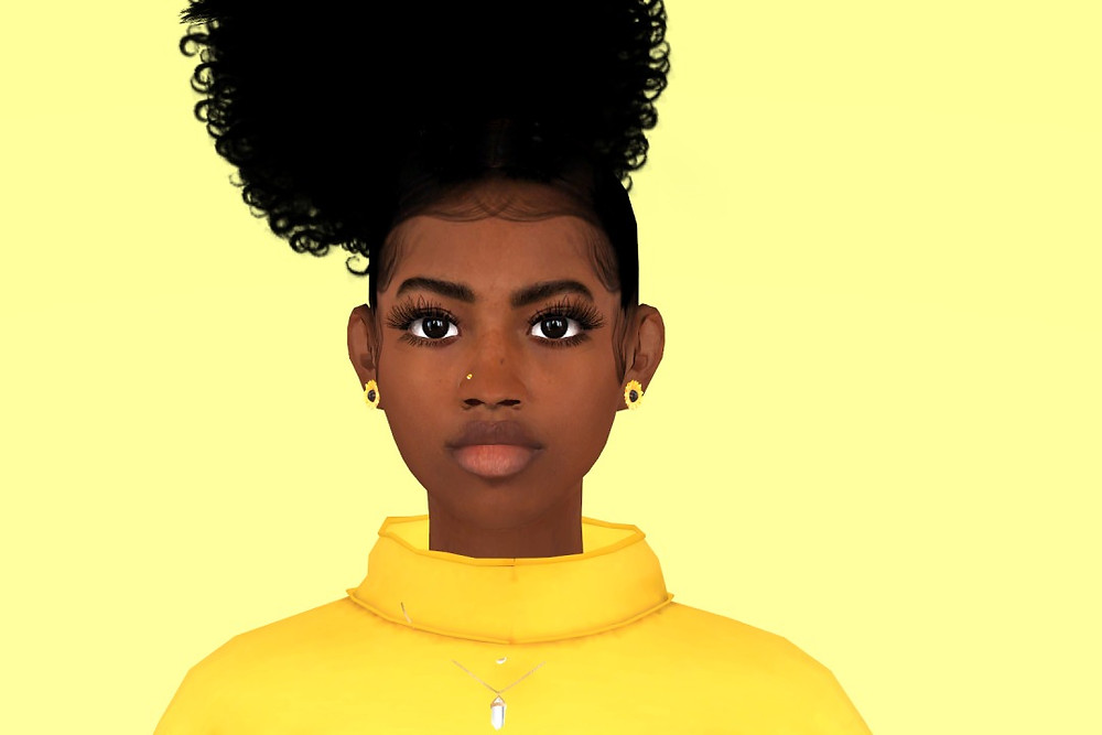 The Black Simmer Hair Texture Gaming The Sims Baby Hair Animation
