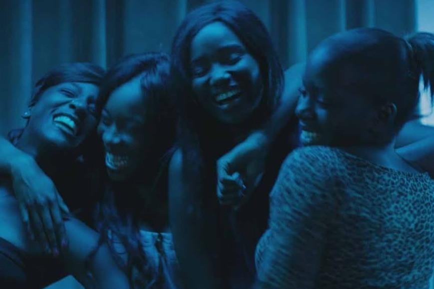 Black female cast including Marieme (Karidja Touré) from indie coming of age film Girlhood
