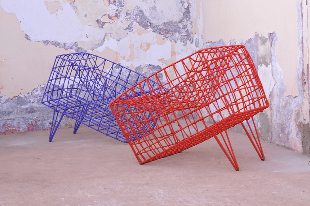 African based design studio Cheick Diallo's chairs