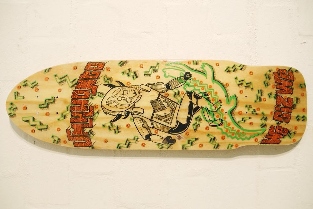 A skateboard by African design studio Atang Tshikare