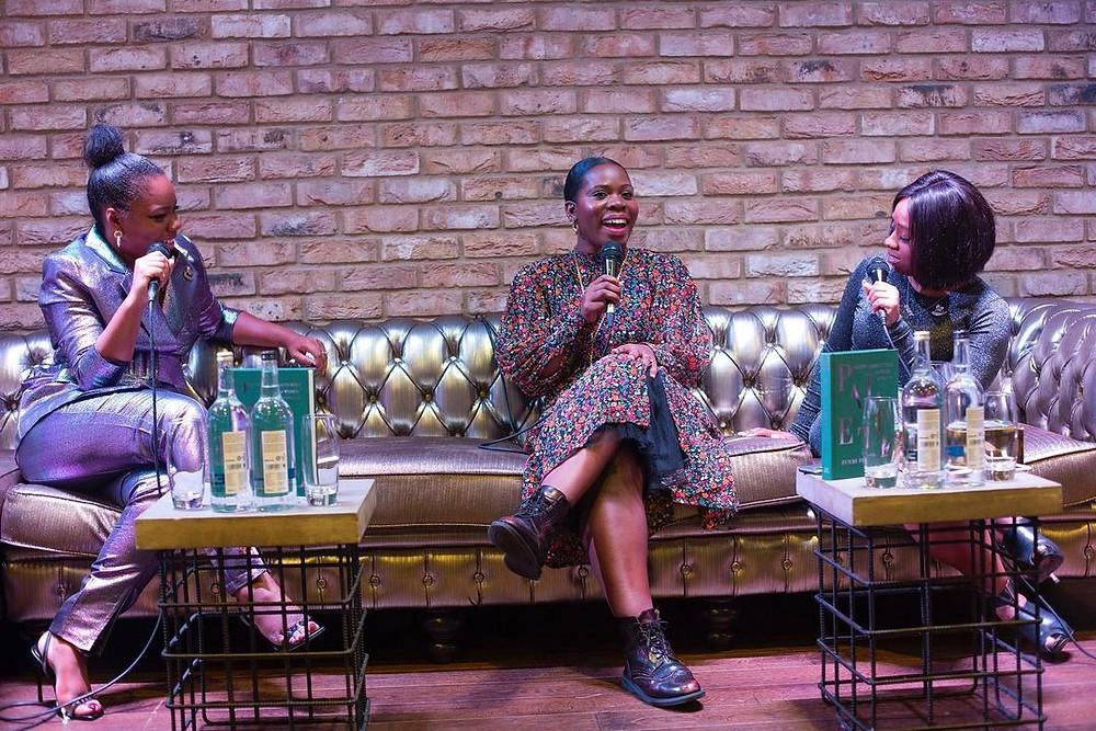 Black Girl Book Club discuss books at an event
