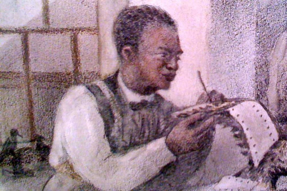 John Edmonstone Black British Heritage Historical Figure Portrait Painting Charles Darwin
