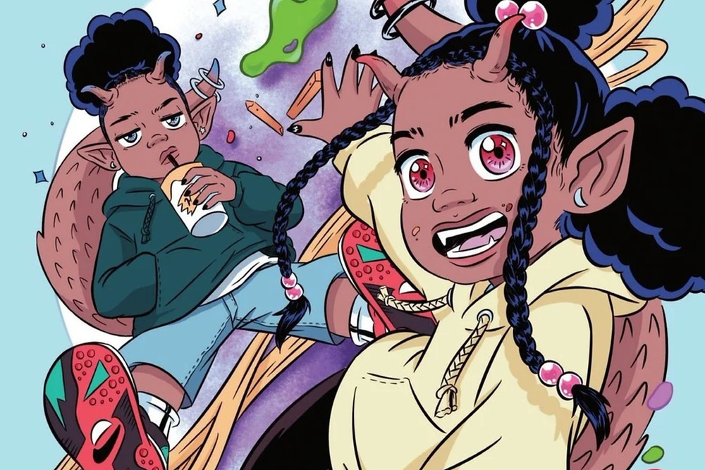 A example of work from black female cartoonist and illustrator Shannon Wright