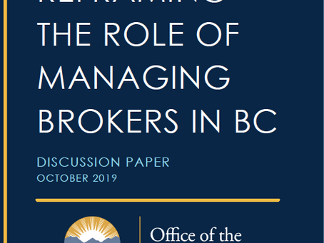 """REBA Responds to  """"Reframing the Role of Managing Brokers in BC"""""""