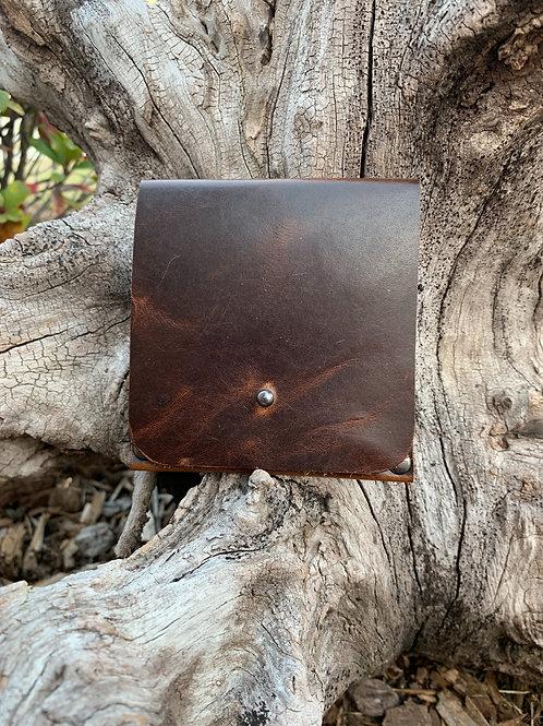Cash & Card Wallet in Dark Chocolate