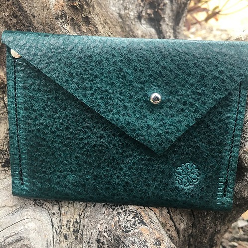 Emerald Green Two Pocket Wallet