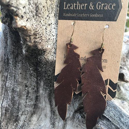 Dark Brown Feathers