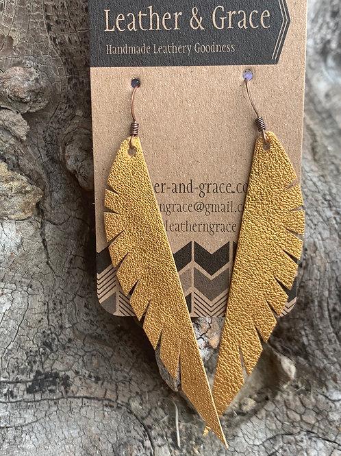Metallic Copper Angel Wings