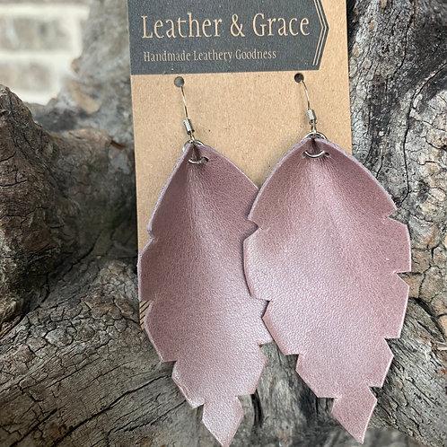 Lavender Leaf Earrings
