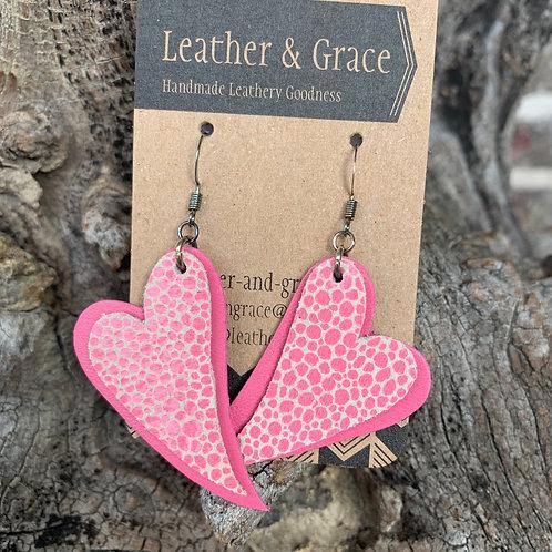 Bubble gum Pink Double Hearts