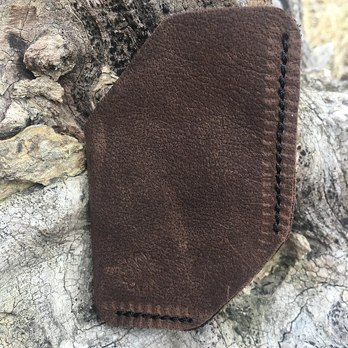 Front Pocket Wallet or Business Card Holder in Dark Brown