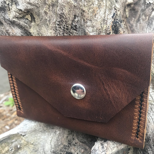 Double Pocket Wallet in Warm Brown